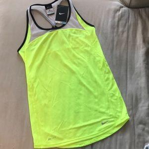 Neon yellow Nike racerback tank